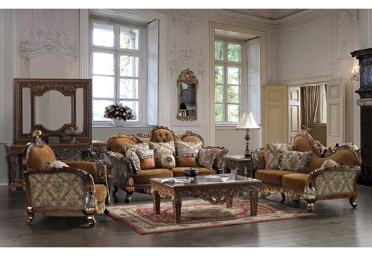 HD 260 Homey Design upholstery living room set Victorian  European    Classic design Sofa Set. 260 Homey Design upholstery living room set Victorian  European