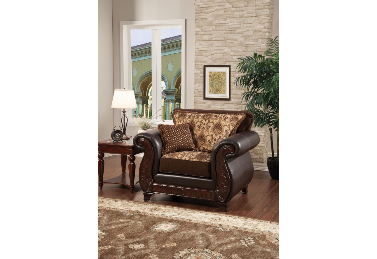 SM6106 Furniture Of America Franklin Living Room Dark Cherry Finish