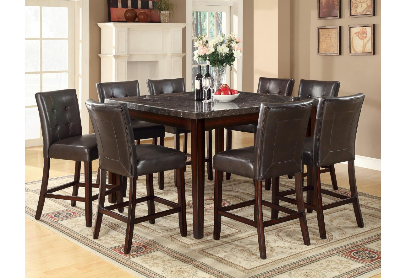 Marble top dining table square - 103777 Coaster Milton Counter Height Table Marble Top Dining Set