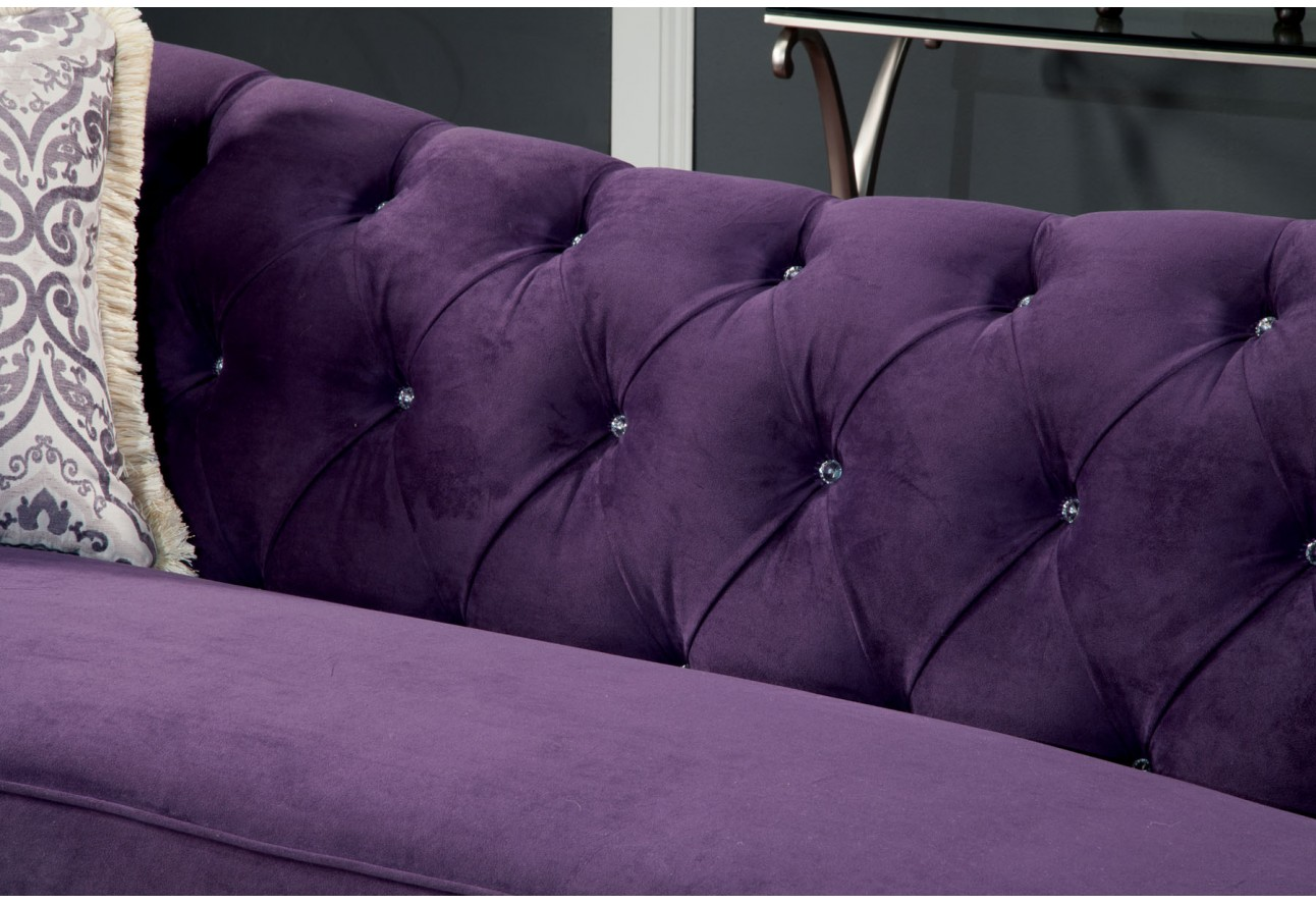 Furniture of america Antoinette Living Room Set Purple color ...