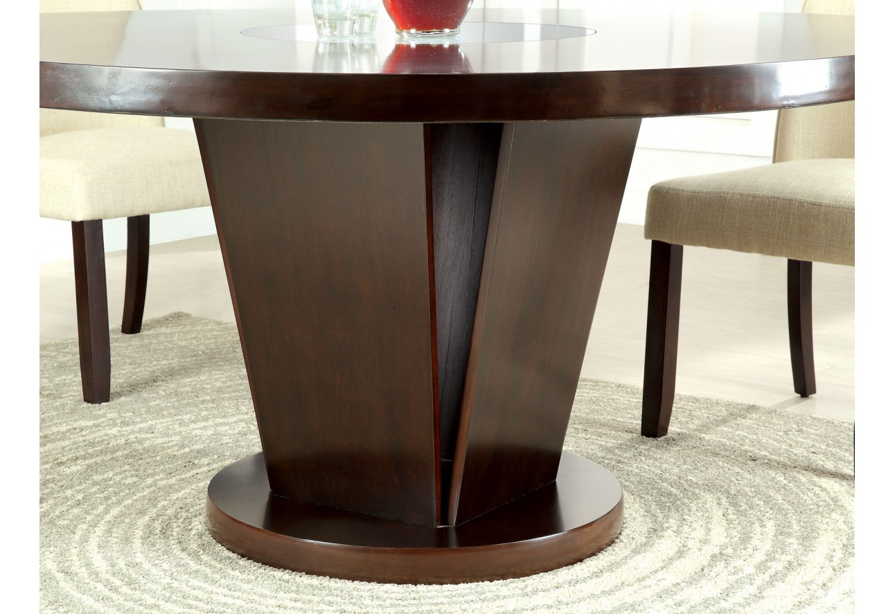 cm3556 round top solid wood with mirror dining table set espresso cm3556 round top solid wood with mirror dining table set espresso