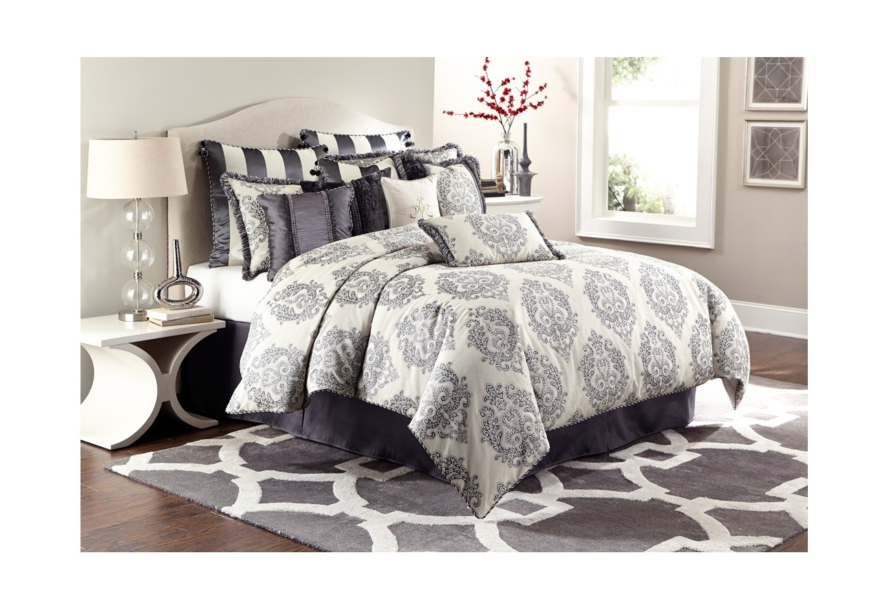 Michael Amini Living Room Furniture Amini Peyton Comforter Bedding Set By Aico