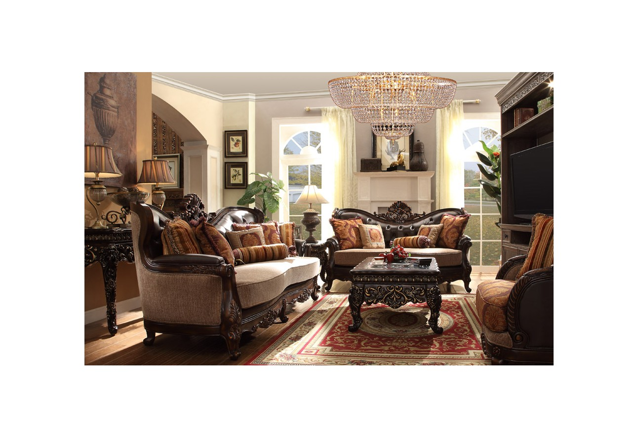 Victorian style living room sets for Three room set design