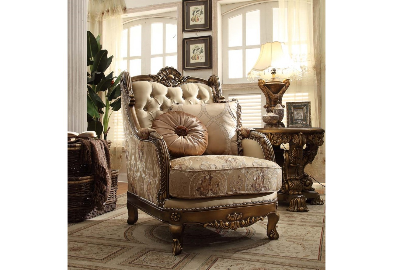 Hd 506 homey design upholstery living room set victorian european classic design sofa