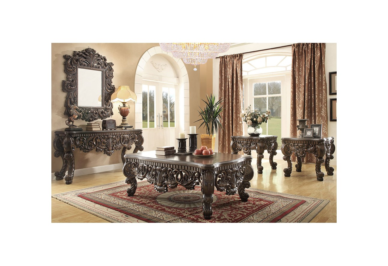 ... HD 3280 Homey Design Upholstered Living Room Set Victorian, European U0026  Classic Design Sofa ...