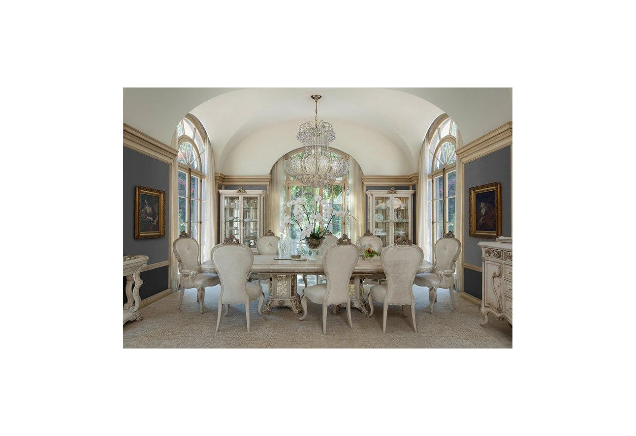 by room dining rooms aico platine de royale dining set champagne