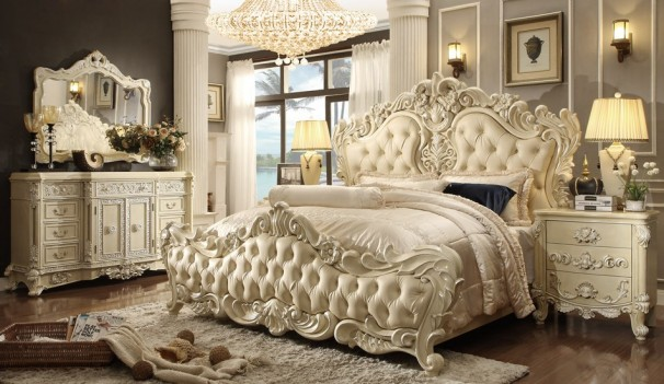 HD 5800 Bedroom Set Homey Design Victorian, European & Classic design