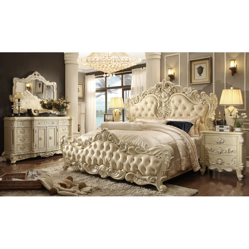 Hd 5800 bedroom set homey design victorian european for Victorian bedroom furniture