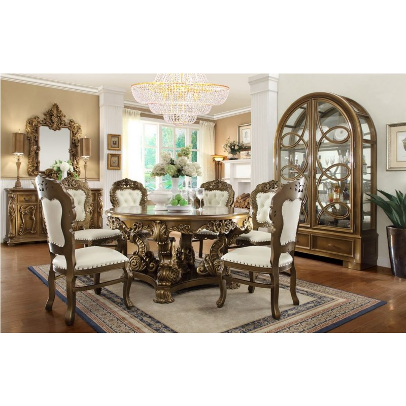 HD 8008 Homey Design Dining Room Set Victorian European Classic
