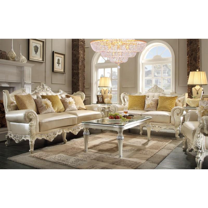 Hd 13009 homey design juego de sala estilo victoriano for Muebles modernos estilo europeo