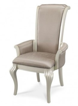 AICO Hollywood Swank Arm Chair in Pearl