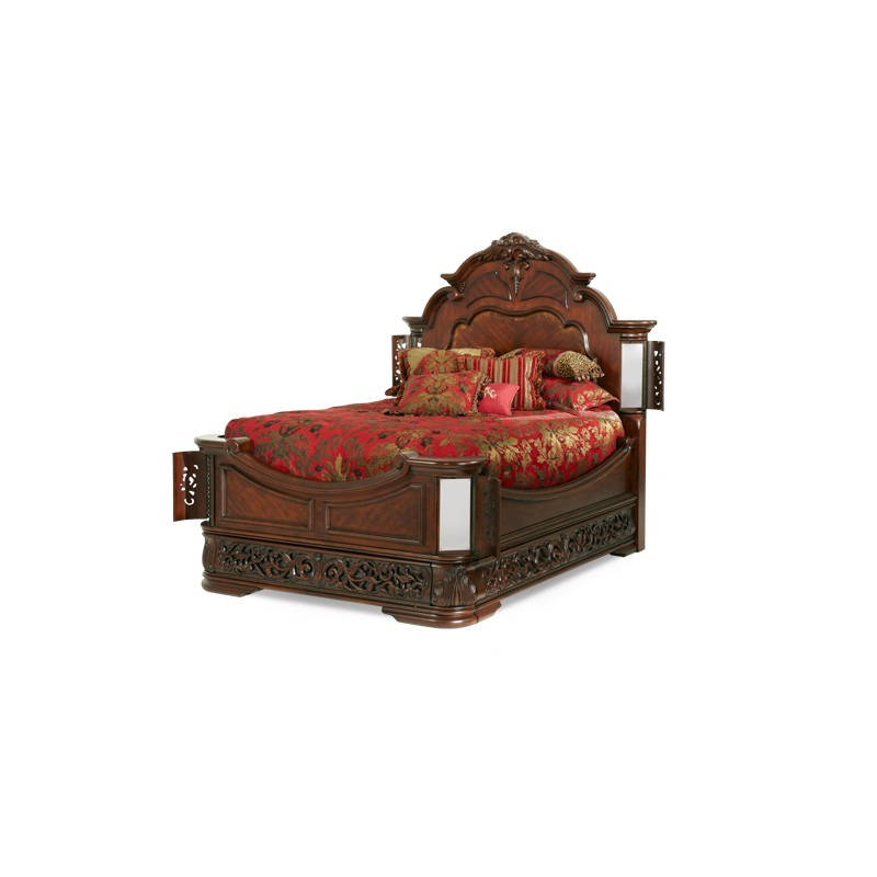 aico excelsior mansion bed n59000qn 47 - Fruitwood Bedroom Furniture
