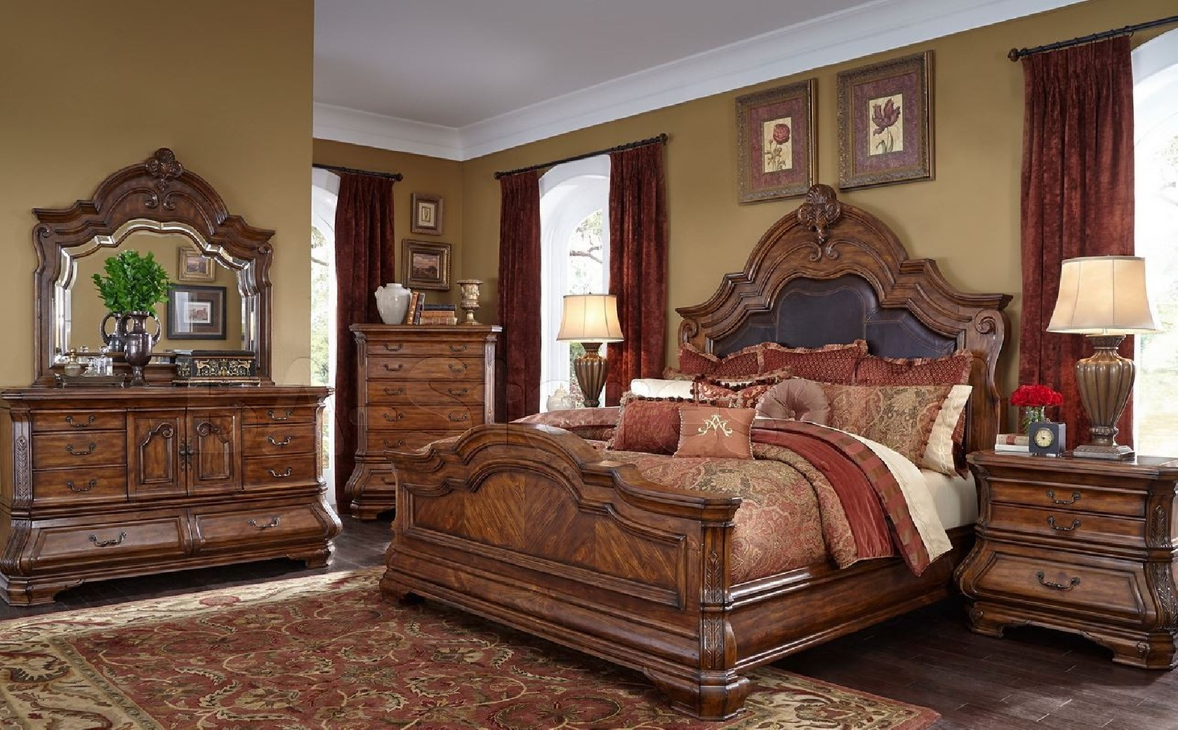 Aico Tuscano Melange Bedroom Set Collection .Melange Finish