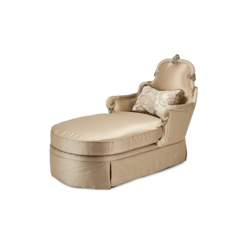 aico platine de royale wood trim chaise champagne. Black Bedroom Furniture Sets. Home Design Ideas
