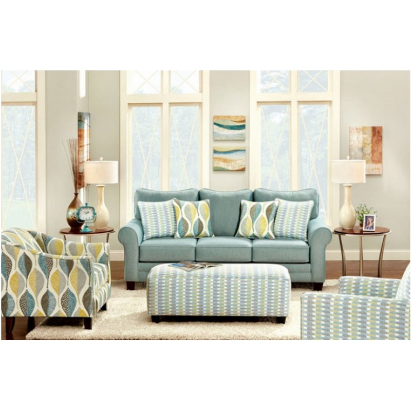 BRUBECK Living Room By Furniture Of America Soft Teal ...