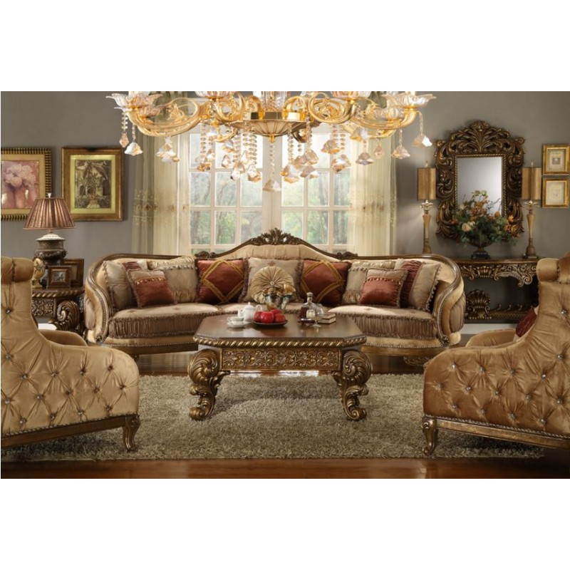 Box Type Sofa Designs: HOMEY DESIGN HD-458-SLC 3 PCS TRADITIONAL SOFA LOVESEAT