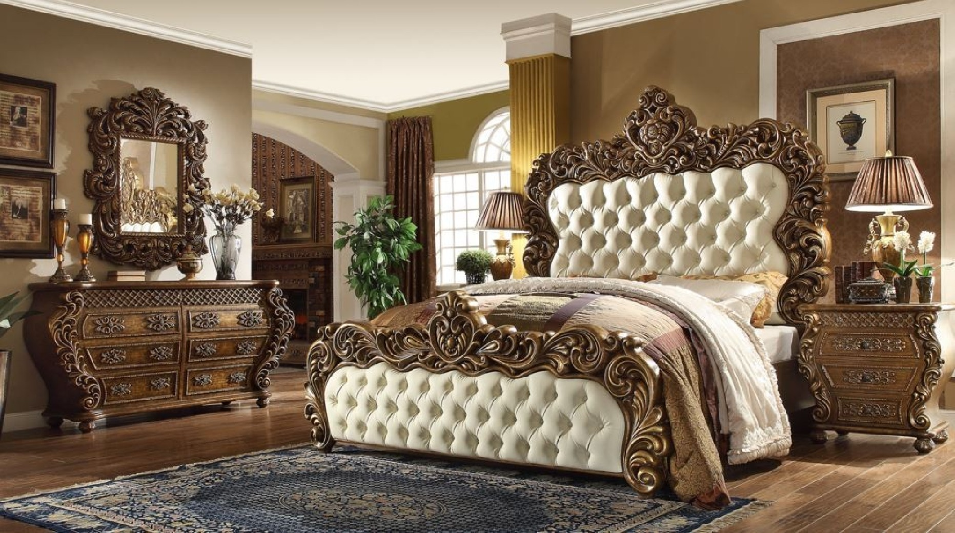 HD 8011 Homey Bedroom Set Victorian, European U0026 Classic Design