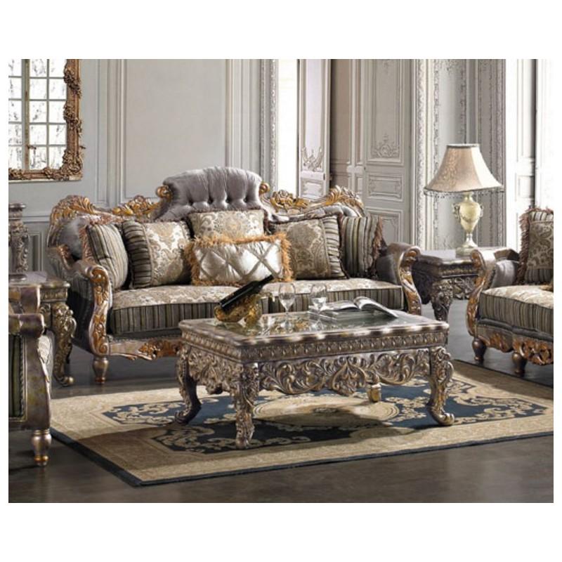 HD Homey Design upholstery living room set Victorian European Classic design Sofa Set