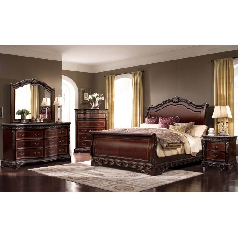 b188 mc ferran bella bedroom set collection cherry color