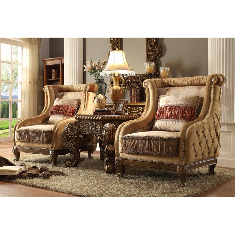 HD 458 Homey Design Upholostered Sectional   Victorian, European U0026 Classic  Design Sofa Sectional