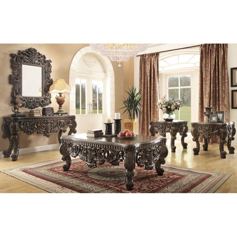 HD  Homey Design Upholstery Living Room Set Victorian - Victorian living room set
