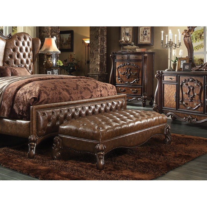 21100 Acme Versailles Bedroom Collection Cherry Oak Finish