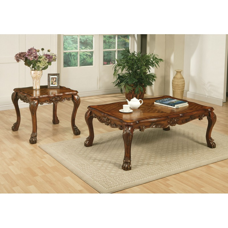 15160 Acme Dresden Living room Collection Cherry Oak Finish/ Brown PU