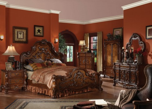 12140 Acme Dresden Collection in Cherry Oak Finish