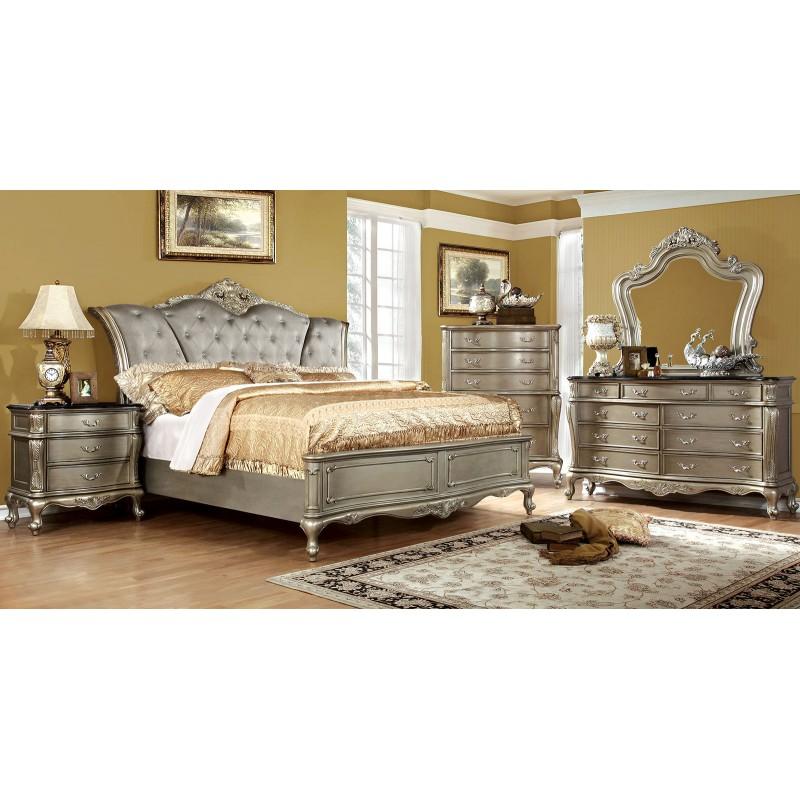Furniture of America Johara Bedroom set Gold Finish