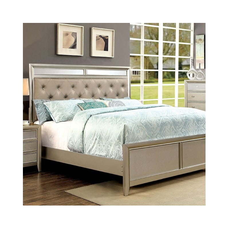 bedroom cm7101 furniture of america bedroom set briella silver
