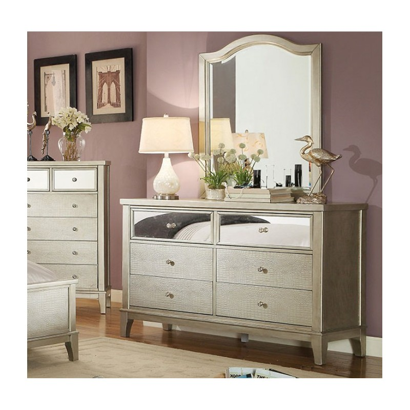 bedroom cm7282 furniture of america bedroom set adeline silver