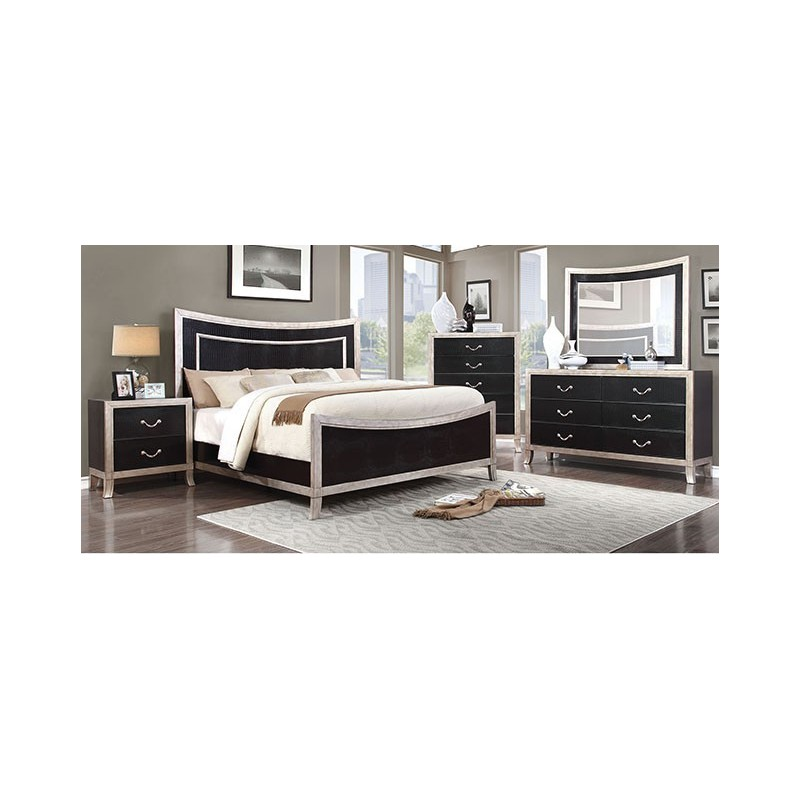 cm7264 furniture of america bedroom set liza silver finish
