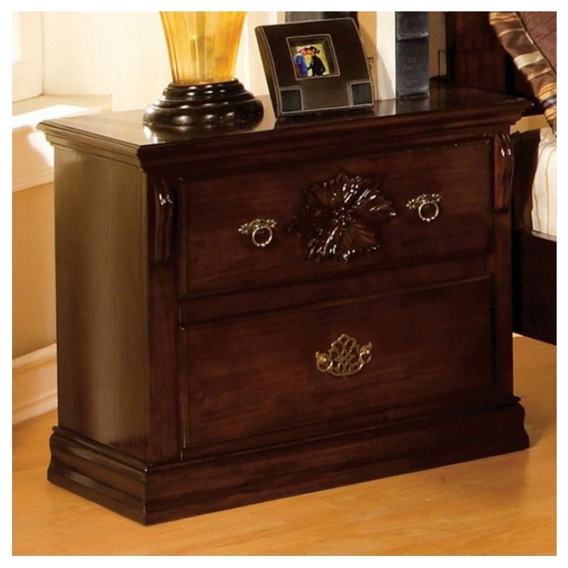 cm7571 furniture of america bedroom set tuscan ii glossy dark pine