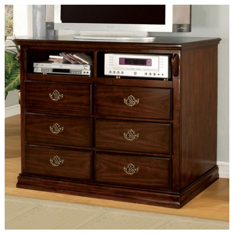 cm7571 furniture of america bedroom set tuscan ii glossy dark pine