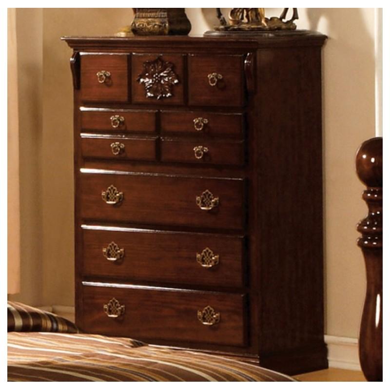 CM7571 Furniture of America Bedroom set Tuscan II Glossy Dark Pine Finish. Furniture of America Bedroom set Tuscan II Glossy Dark Pine Finish