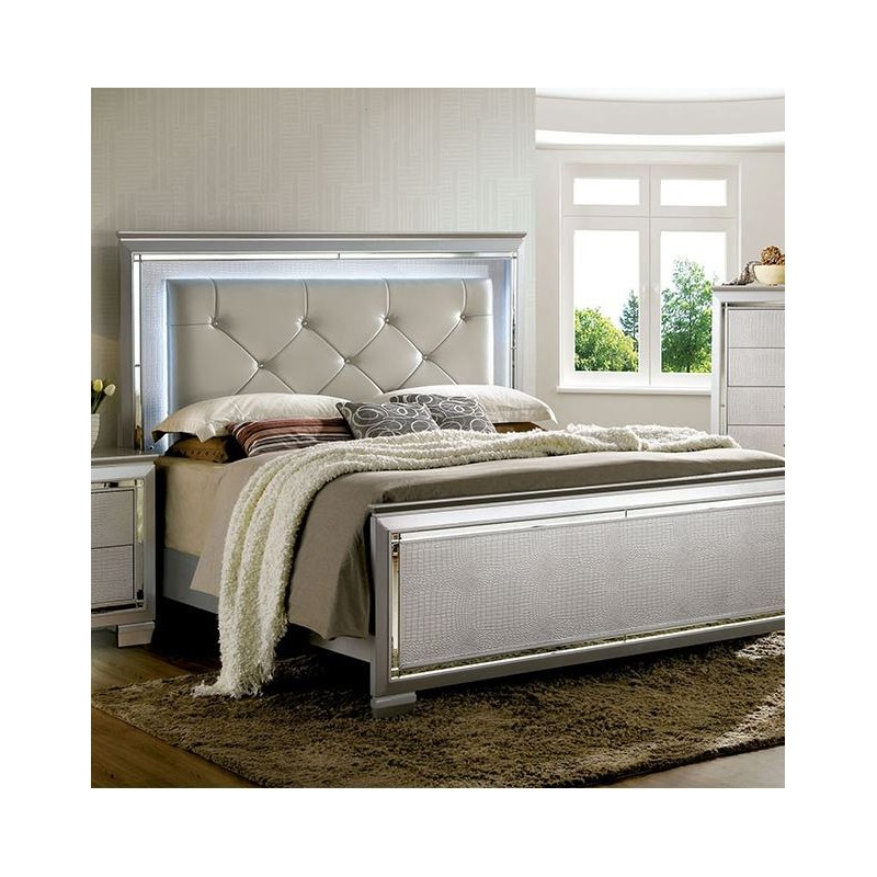 bedroom cm7979sv furniture of america bellanova silver bedroom set