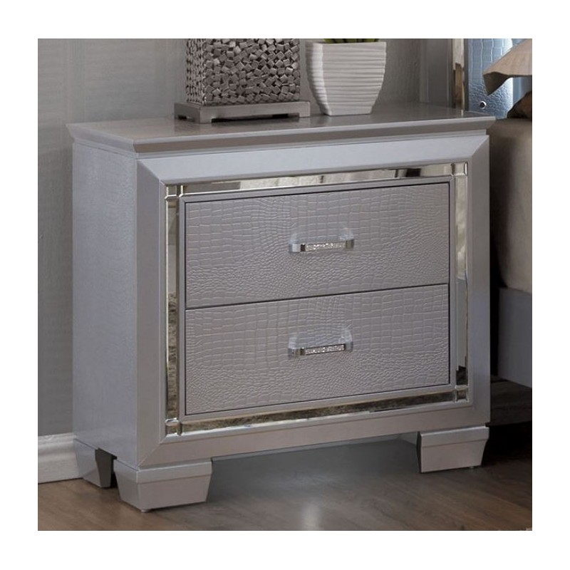 Furniture of America Bellanova Silver Bedroom Set