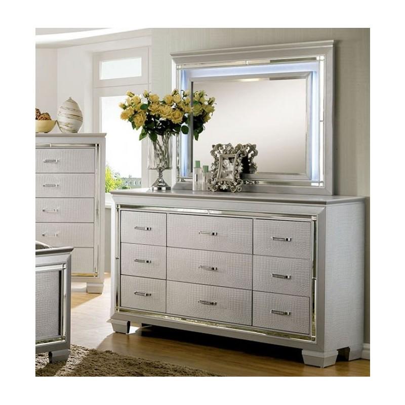 Furniture of America Bellanova Silver Bedroom Set