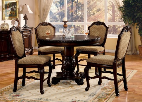64082 Acme Chateau de Ville  Counter Height Dining Set Espresso Finish