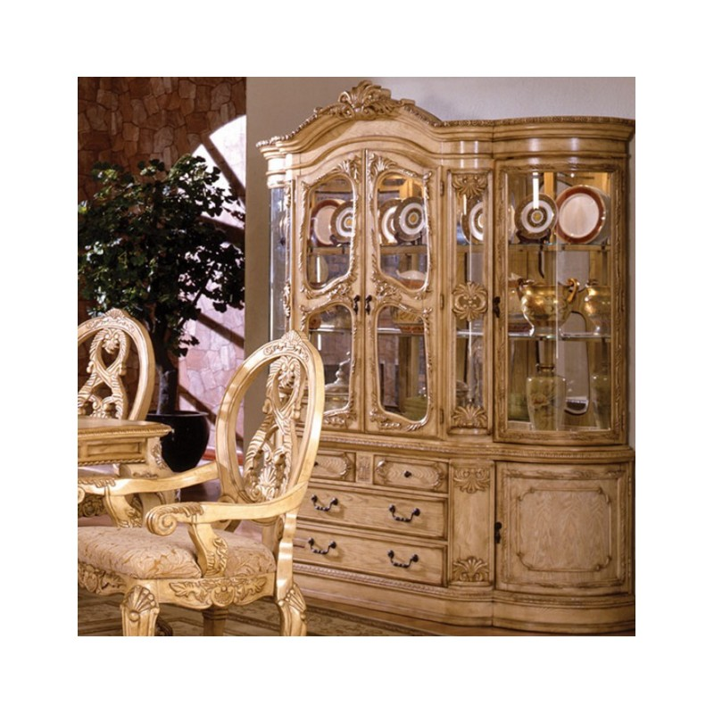 CM3845 Furniture Of America Tuscany II Dining Set Collection Antique White  Finish