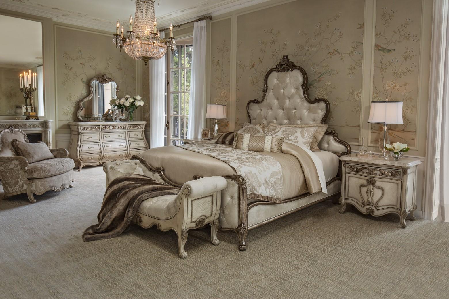 AICO 09000 Platine de Royale Bedroom set by Michael Amini
