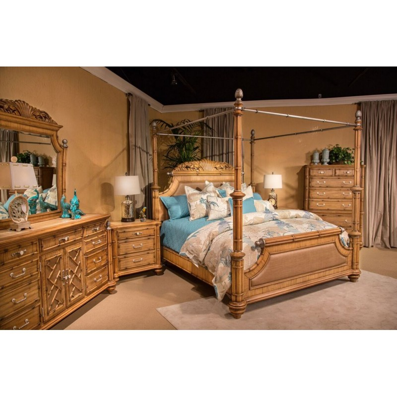 Aico Excursions Bedroom Set Caramel Cashmere By Michael Amini