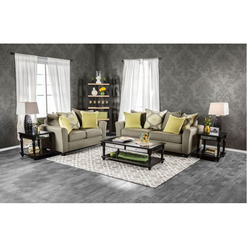 room sets sm3055 furniture of america macroom living room set gray