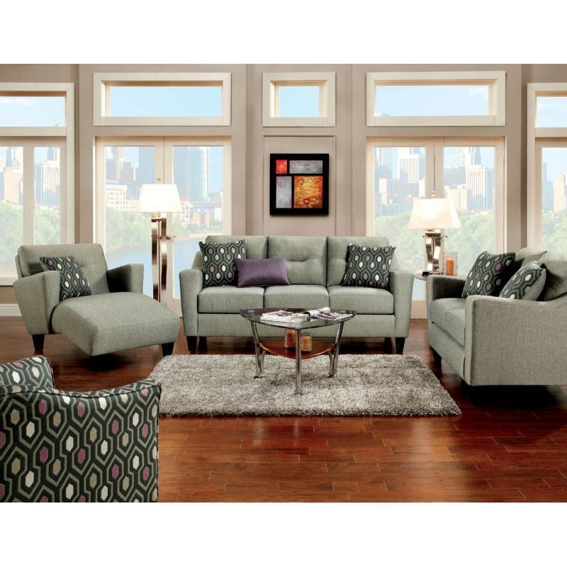 SM8210 Furniture of America Coltrane Living Room Set Gray - Furniture Of America Coltrane Living Room Set Gray