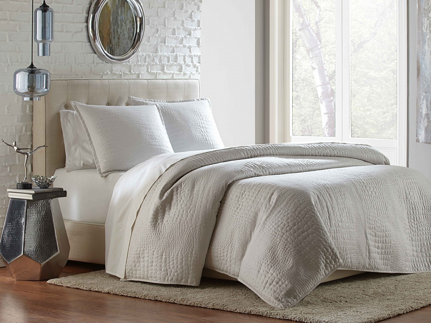 Michael Amini Brilliance Coverlet Duvet Bedding Set By Aico