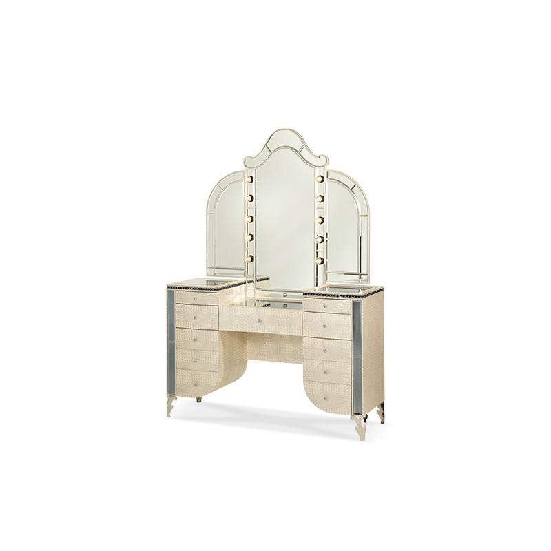 aico hollywood swank bedroom vanity mirror 2 pc