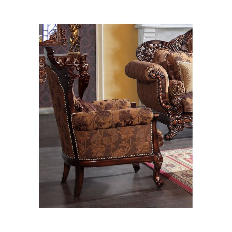 hd66 homey design brown upholstered accent chair victorian style