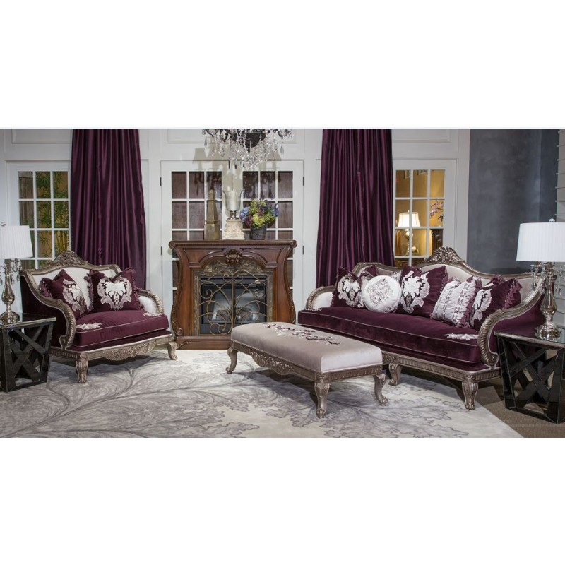 aico freestanding collection lisette living room set by michael amini