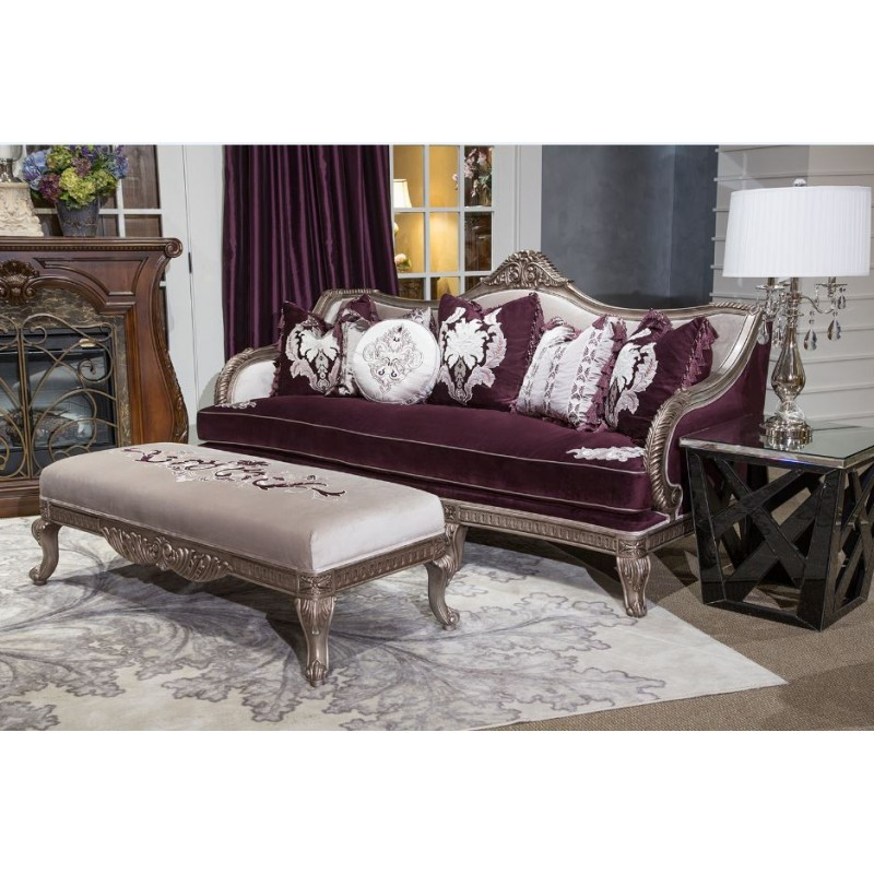 Aico freestanding collection lisette living room set by for Aico living room sets