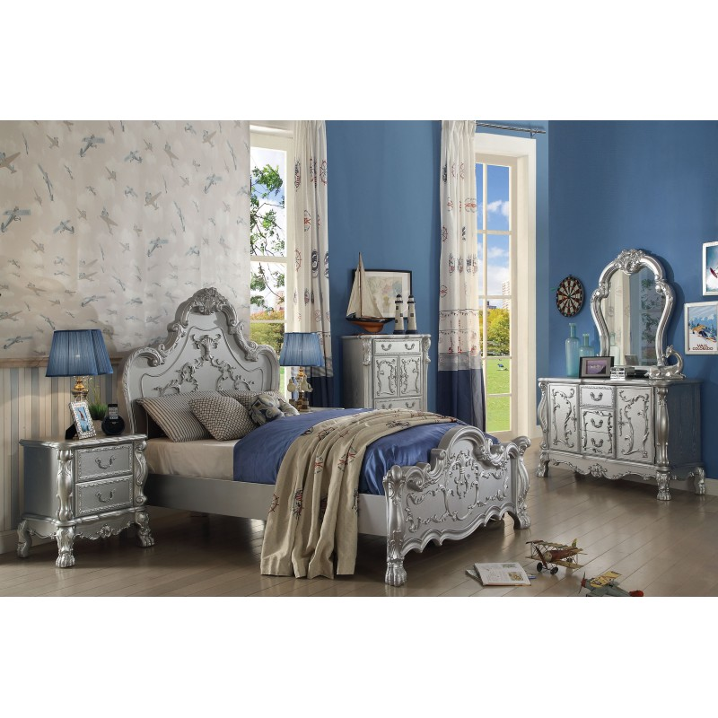 Victorian Youth Bed : Silver finish dresden youth bedroom set collection